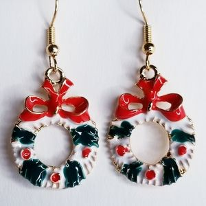 🆕️ Christmas Wreath Earrings